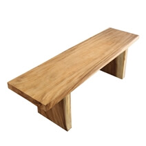 Larksville Natural Solid Wood Live Edge Dining Bench