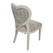 Huntingdon Romantic Heart Shaped Mahogany Wood Accent Dining Chair