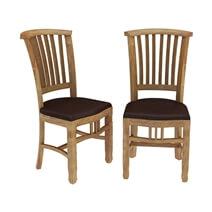 Brussels Rustic Reclaimed Teak Wood Pane Back Dining Chair