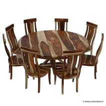 Bedford Solid Wood Round Dining Room Set
