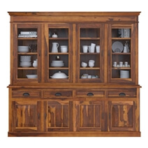Cariboo Contemporary Rustic Solid Wood Dining Room Large Buffet Hutch