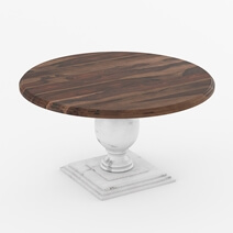 Illinois Modern Two Tone Solid Wood Round Dining Room Set
