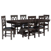 Antwerp Farmhouse Solid Wood Extendable Dining Table & Chair Set