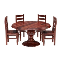 Minsk Rustic Traditional Rosewood Dining Room Set