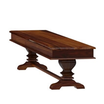 Tiraspol Traditional Rustic Solid Wood Dining Table Bench