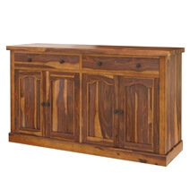 Tiraspol Traditional Rustic Solid Wood 2 Drawer Large Sideboard