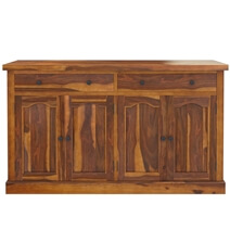 Tiraspol Traditional Rustic Solid Wood 2 Drawer Large Sideboard