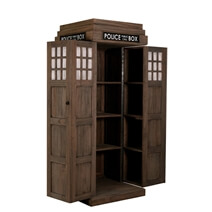 Doctor Who Bookcase Made of Teak Wood