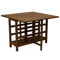 Pensacola Mindi Wood Drop Leaf Dining Table