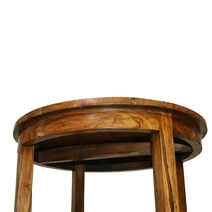 Bartow Vintage Style Teak Wood Round Bar Table