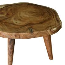 Escambia Tree Stump Live Edge Round Coffee Table