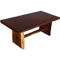 Hanalei Suar Wood Single Slab Live Edge Dining Table