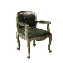 Windsorville Mahogany Wood Royal Traditional Claw Foot Accent Chair