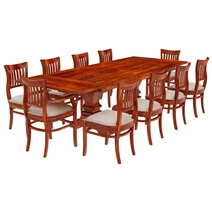 Chantilly Chic Handcrafted Rosewood 12 Piece Dining Room Set