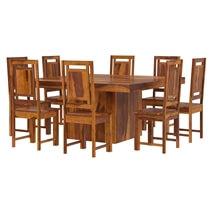 Brocton Solid Wood Square Pedestal Dining Room Set