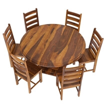 Cloverdale Solid Wood 8 Piece Round Dining Room Set