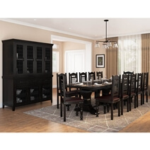 Harold Traditional Solid Wood 14 Piece Dining Room Set
