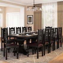 Harold Traditional Solid Rosewood Pedestal Dining Table and Chair Set