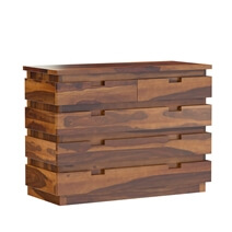Modern Simplicity Solid Wood Bedroom Dresser Chest With 5 Drawers