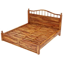 Colonial Rail Top 5 Piece Bedroom Set