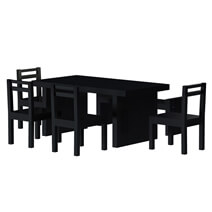 Arcadian Modern Style Rustic Solid Wood 7 Piece Dining Room Set