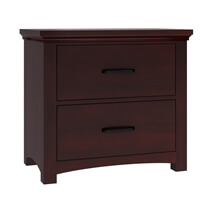Vindemia Contemporary Style Solid Mahogany Wood 2 Drawer Nightstand