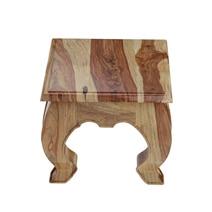 Halfeti Contemporary Rustic Solid Wood 3 Piece Opium Coffee Table Set