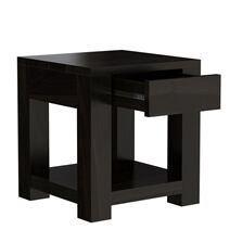 Glencoe Contemporary Style Solid Wood Square End Table