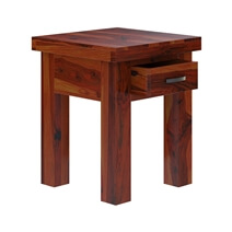 Cheverly Modern Style Solid Wood Handcrafted 1 Drawer End Table