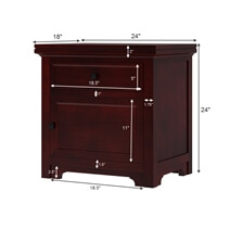 Carina Contemporary Mahogany Wood 1 Drawer Nightstand