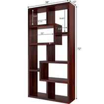 Gadsden Contemporary Rustic Solid Wood Cube Unit Home Office Bookcase
