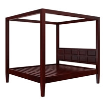 Henderson Transitional Mahogany Wood 3 Piece Bedroom Set