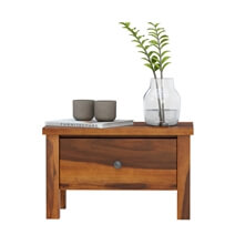 Osteen Contemporary Rustic Solid Wood Single Drawer Nightstand