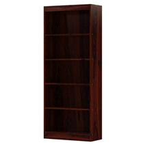 Dubois Solid Wood 5 Shelves Standard Rustic Home Office Bookcase