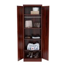 Emmonak Rustic Solid Wood Tall Wardrobe Armoire with Shelves