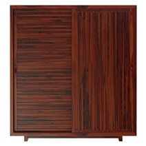Stonington Large Rustic Solid Wood Sliding Door Armoire With Shelves