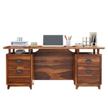Hondah Rustic Solid wood 70 Inch Large Home Office Modern Executive Desk