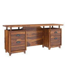 Hondah Rustic Solid Rosewood 4 Drawer 70 Large Home Office Executive Desk