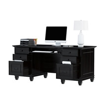Klagetoh Solid Wood 67 Large Computer Desk With Keyboard Tray