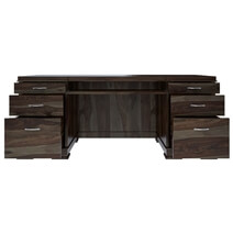 Blanford Modern Solid Wood Office Executive Desk With Keyboard Tray