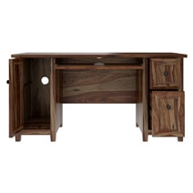Bainbridge Solid Wood Home Office Computer Desk with Keyboard Tray