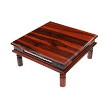 Licio Traditional Style Solid Wood 3 Piece Square Coffee Table Set