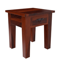 Tierra Rustic Solid Wood 1 Drawer End Table