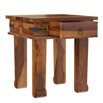Terrarum Rustic Solid Wood 3 Piece Square Coffee Table Set