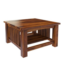 Jeddito 3 Piece Square Coffee Table Set Mission Style