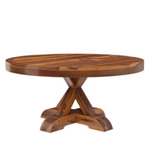 Floreo Solid Wood 3 Piece Round Coffee Table Set