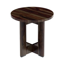 Solid Wood Espresso 3 Piece Round Coffee Table Set