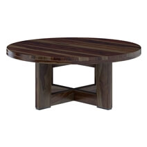Amargosa Contemporary Rustic Solid Wood Round Coffee Table