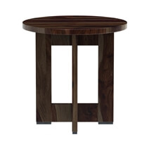 Amargosa Rustic Solid Wood Round End Table
