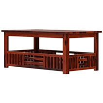 Yantis Mission Style Rustic Solid Wood 3 Piece Coffee Table Set